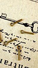 Alphabet letter I charm bronze vintage style jewellery supplies C32