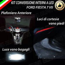 KIT LED INTERNI FORD FIESTA 6 VI ANTERIORE+LUCI CORTESIA+BAGAGLIAIO 6000K