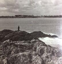 Stereoscope - Dinard & Rocky Coast Of Brittany  Ramparts Fortress St Malo France