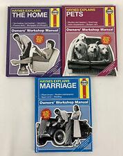 Haynes Explains Marriage Pets The Home Workshop Manual Set of Three books
