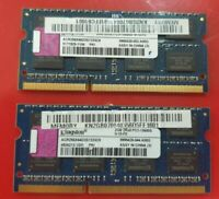 KINGSTON 2x 2GB= 4GB RAM MEMORY DDR3-2Rx8 PC3-10600S ACR256X64D3S1333C9 dell hp