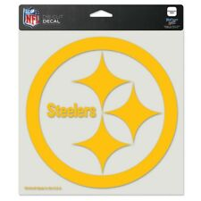 """PITTSBURGH STEELERS YELLOW LOGO 8""""X8"""" COLOR DIE CUT DECAL BRAND NEW WINCRAFT"""