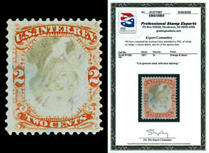 Scott R135b 1871 2c Third Issue Revenue Inverted Center Used Cat $425 PSE CERT