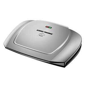 George Foreman 9-Serving Basic Plate Electric Grill and Panini (), Platinum