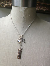 Believe Cross Crosses Rhinestones Religous Charm Necklace Faith Christian Gems