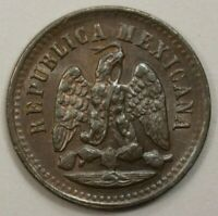 Mexico  1 Centavo  UNC 1896 MO Copper