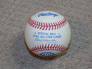 1988 Rawlings Official All Star Game Ball Haiti Stamp Cincinnati Reds