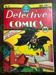 Detective Comics #27 REPRODUCTION of the 1939 FIRST Batman Comic! 1st DC