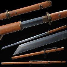 "Chinese Sword ""Tang Jian""(劍) Copper Fitting Sharp Blade Manganese Steel Handmade"