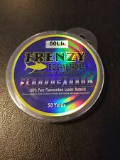 Frenzy Big Game Frenzy Fluorocarbon Leader 50yd 50# Clear Reusable Spool Cl5050