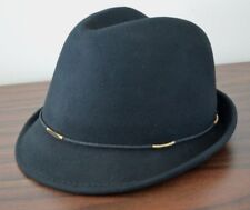 NWT Scala Collezione Dorfman Pacific Women Black Fedora Hat Wool Felt LF186-ASST