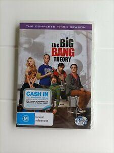 The Big Bang Theory Season 3 DVD 2010 3Disc Set New Sealed Region 4 Free Postage