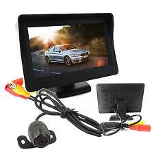 """Monitor 4.3"""" kit Telecamera Retromarcia Auto Retrocamera Camper telecamera staff"""