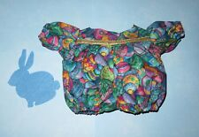 "Handmade Doll Clothes for 23"" Cabbage Patch Dolls - ""Rainbow Eggs"" Short Romper"