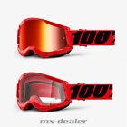 2021 100 % Prozent Brille Strata2 Red Rot Motocross Enduro Downhill MTB DH BMX