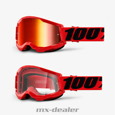 100 % Prozent Brille Strata2 Red Rot Motocross Enduro Downhill MTB DH BMX