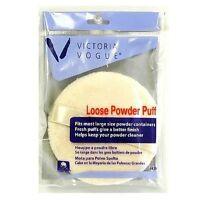 Victoria Vogue Round Loose Powder Puff 1 ea (Pack of 3)