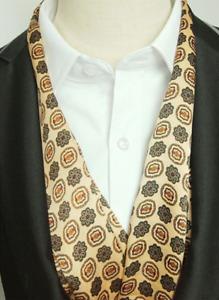 100% Mulberry Silk Satin Scarf men neckerchief muffler Wrap beige yellow MN1-4