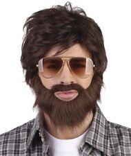 Parrucche e barbe marrone per carnevale e teatro taglia taglia unica, sul TV, libri e film