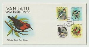 FDC First Day Cover - 1982 - Vanuatu - Wild Birds Part 3