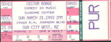 VICTOR BORGE COMEDY CONCERT TICKET STUB 3/21/93 SUNDOME CENTER SUN CITY WEST AZ
