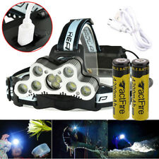 200000LM 6Modes 9 LED Headlamp Headlight Torch 18650 USB Rechargeable + Battery