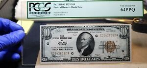 Fr.1860-G $10 1929 Chicago Federal Reserve Bank Note PCGS 64 PPQ