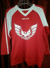 Youth Hockey Jersey Red White Eagle Lg Team Bauer Euc