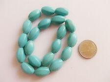 6pz perline ovale ritorto in turchese sintetico 20x13mm bijoux