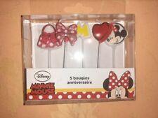 5 bougies anniversaire Minnie Mouse Disney