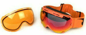 Subzero Pinlock Ski Goggles Orange Antifog Visor Mirrored