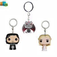 Game of Thrones Jon Snow Daenerys Targaryen Drogon action figure Bobble Head Q