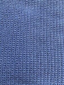Handmade Crochet 100% Cotton Indigo Jeans Blue Rug 130x146 cm