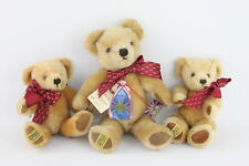 More details for 3 x assorted merrythought plush teddy bears inc. original tags