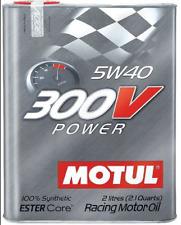 MOTUL 300V POWER 5W40 OLIO MOTORI GARA RALLY GT ENDURANCE SINTETICO 5W-40 2L PER