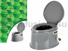 Fineway 5l Portable Toilet Compact Potty Loo Camping Caravan Picnic Fishing FES