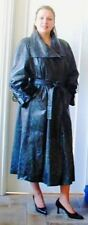 NWOT TOPPOLINO LEATHER ALLIGATOR PRINT DARK GREEN FULL LENGTH COAT SIZE M