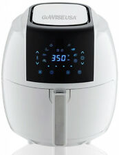 GoWISE USA Air Fryer 5.8 Qt. 8-in-1 Touch Screen White Non-Stick Pan Recipe Book