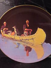 """Frederic Remington EVENING ON A CANADIAN LAKE Ltd Ed Plate   10 1/4"""""""