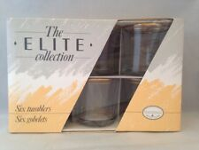 6 Vintage COLOROLL Tumblers Gobelets The Elite Collection BNIB 60s/70s
