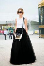 6 Layer Maxi Women's Tulle Skirts100cm Long Celebrity Skirt Ball Gown