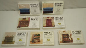 7 House Of Miniatures Chippendale Chest Drawer Desk Sideboard & Sofa Lot