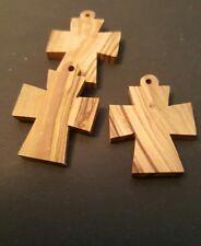 Kreuze und Anhänger f. Halskette aus Olivenholz, Holz, handgefertigt Bethlehem