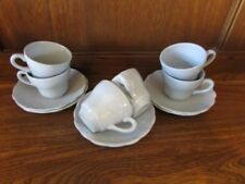 Blue Pottery Cups & Saucers 1940-1959 Date Range