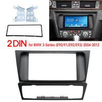 2 Din Car Stereo Fascia Dash Panel Adapter for BMW 3 Series E90 E92 E93