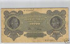 POLOGNE 10 000 MAREK 11.3.1922 N° G 1738611 PICK 32