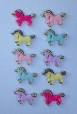 10 Licornes-résine Flatback cabochon embellissement pour Craft Scrapbooking Téléphone