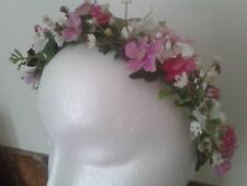 Shades of Pink roses bridesmaids,flowergirls headband,headpiece