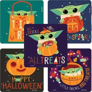 20 Mandalorian Halloween Baby Yoda Stickers Party Favors Star Wars The Child