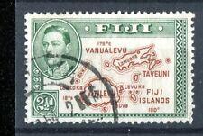 Fiji KGVI 1938-55 2.5d brown & green 'extra island' p13.5 SG256ba used